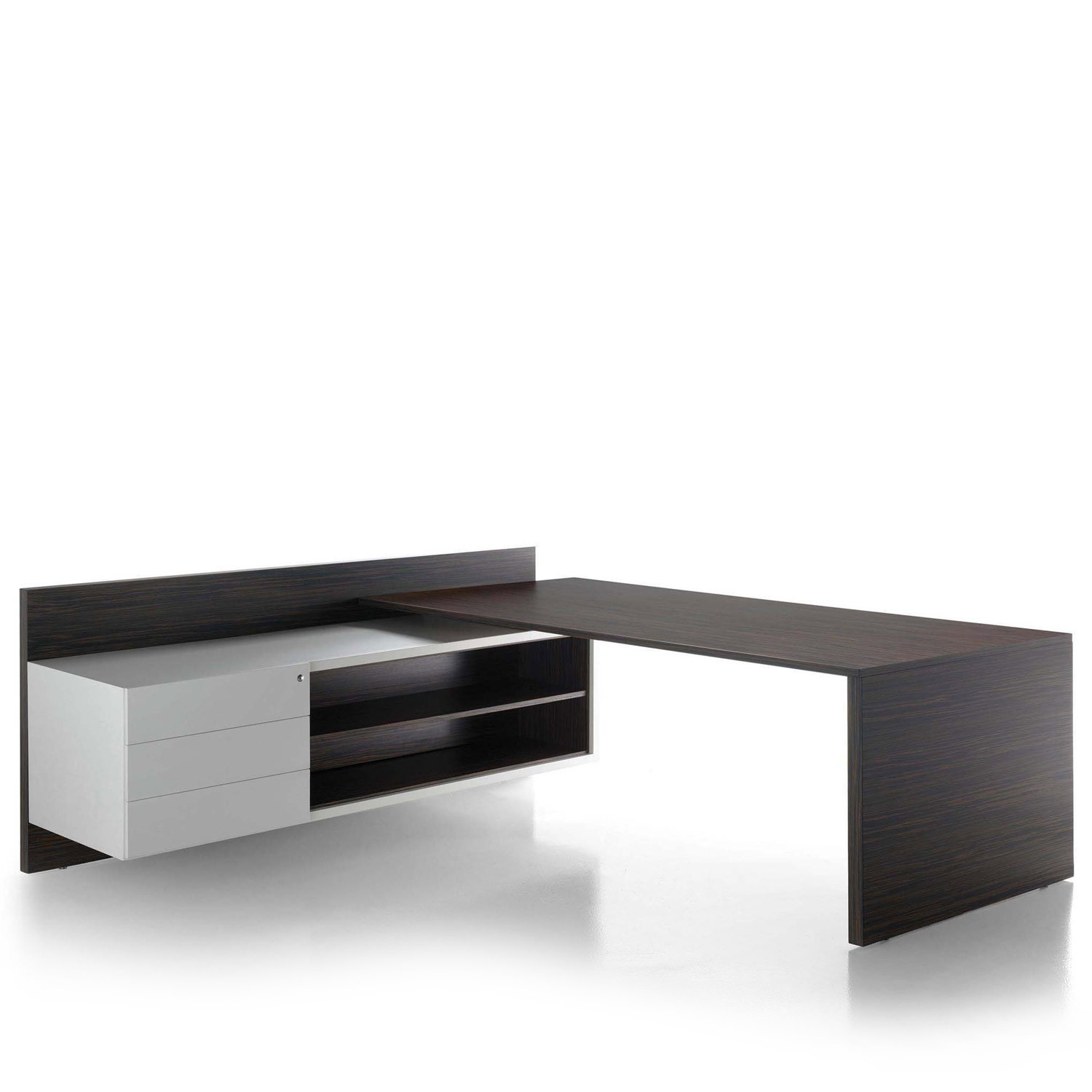 Vektor Executive Desk WIth Suspended Storage