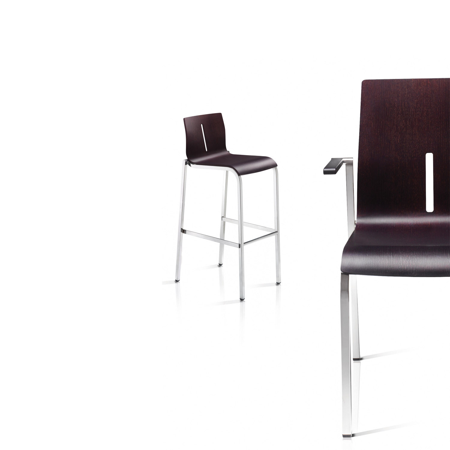 Vent Bar Stool and Vent Stacking Chair