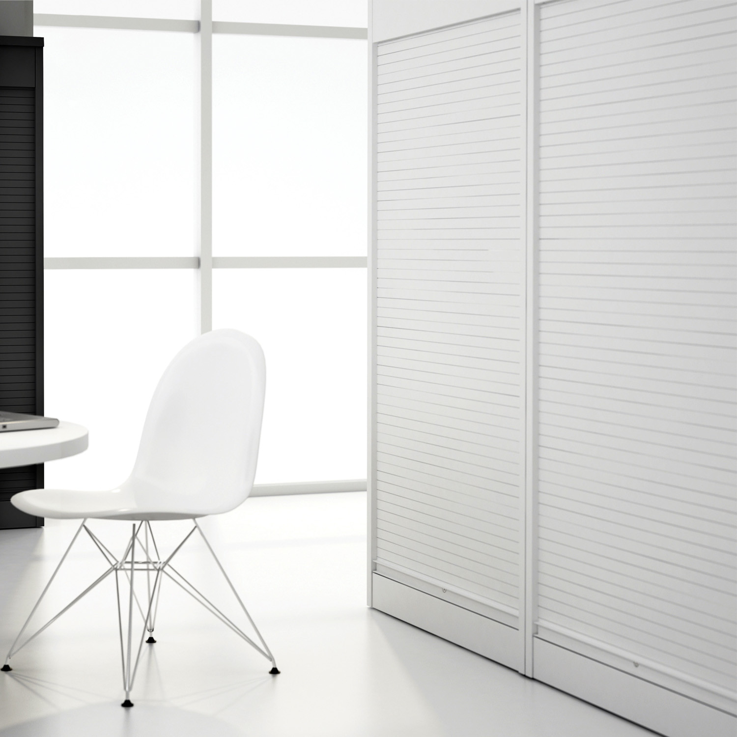 Vertical Tambour Office by Silverline