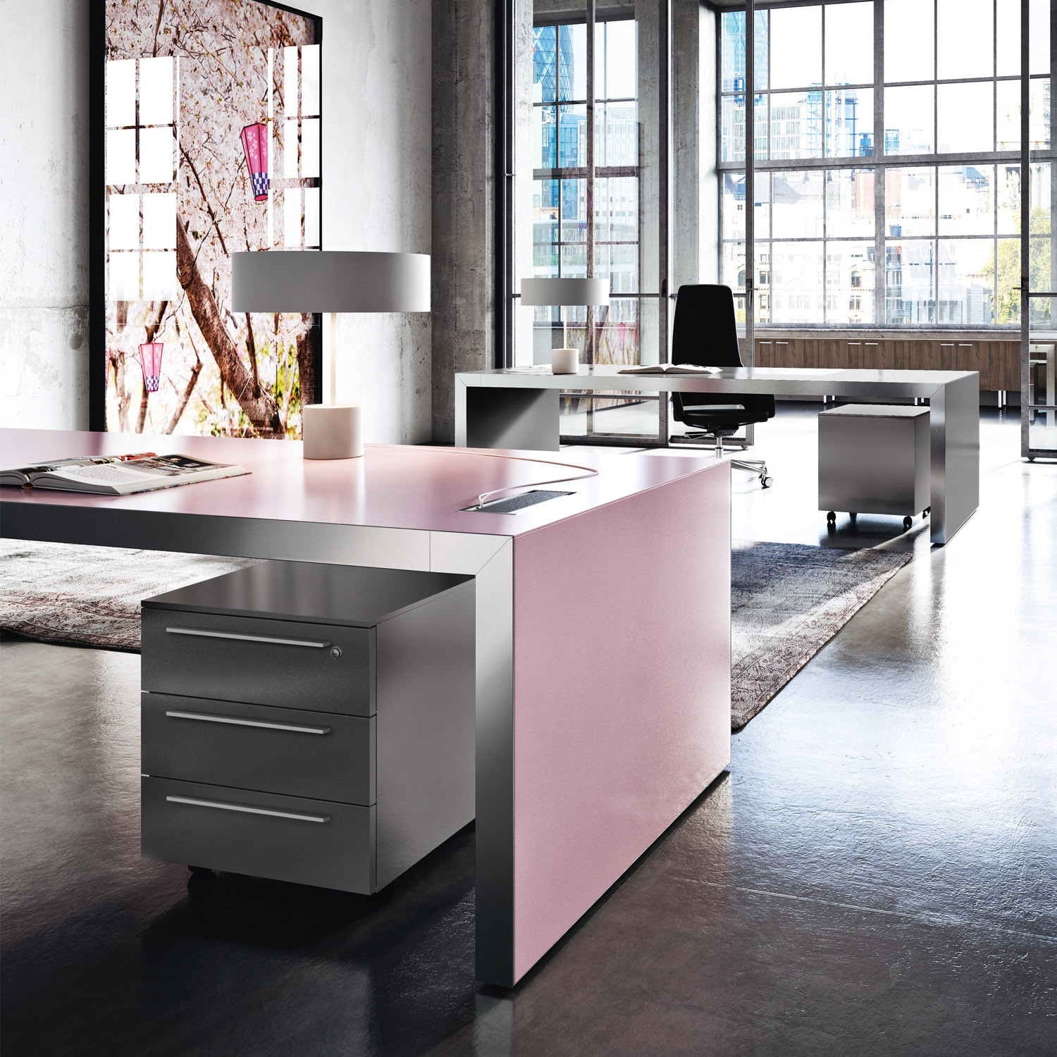 Vogue Executive Pink Desk | Pastel Pink Office Desks ...