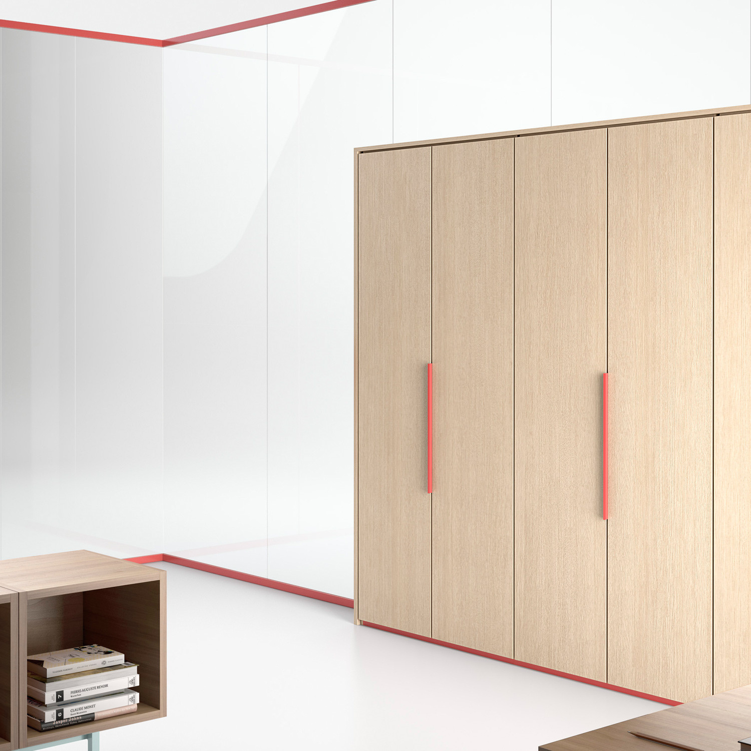 Wallsystem Office Partition With Storage