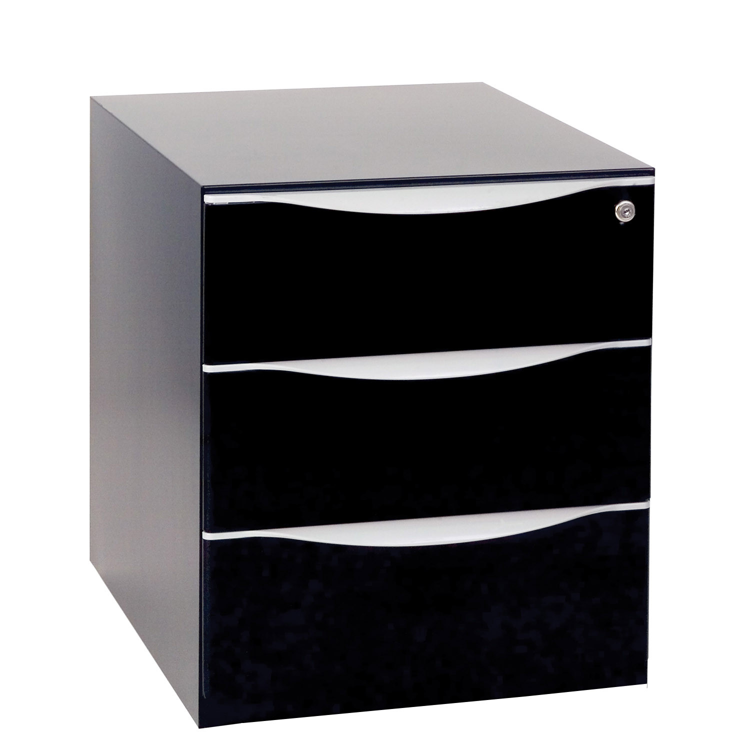 Wave Under Desk Black Pedestal