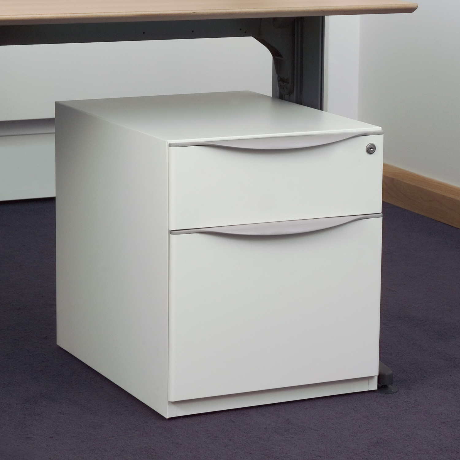 Wave Under Desk Pedestal with 2 drawers
