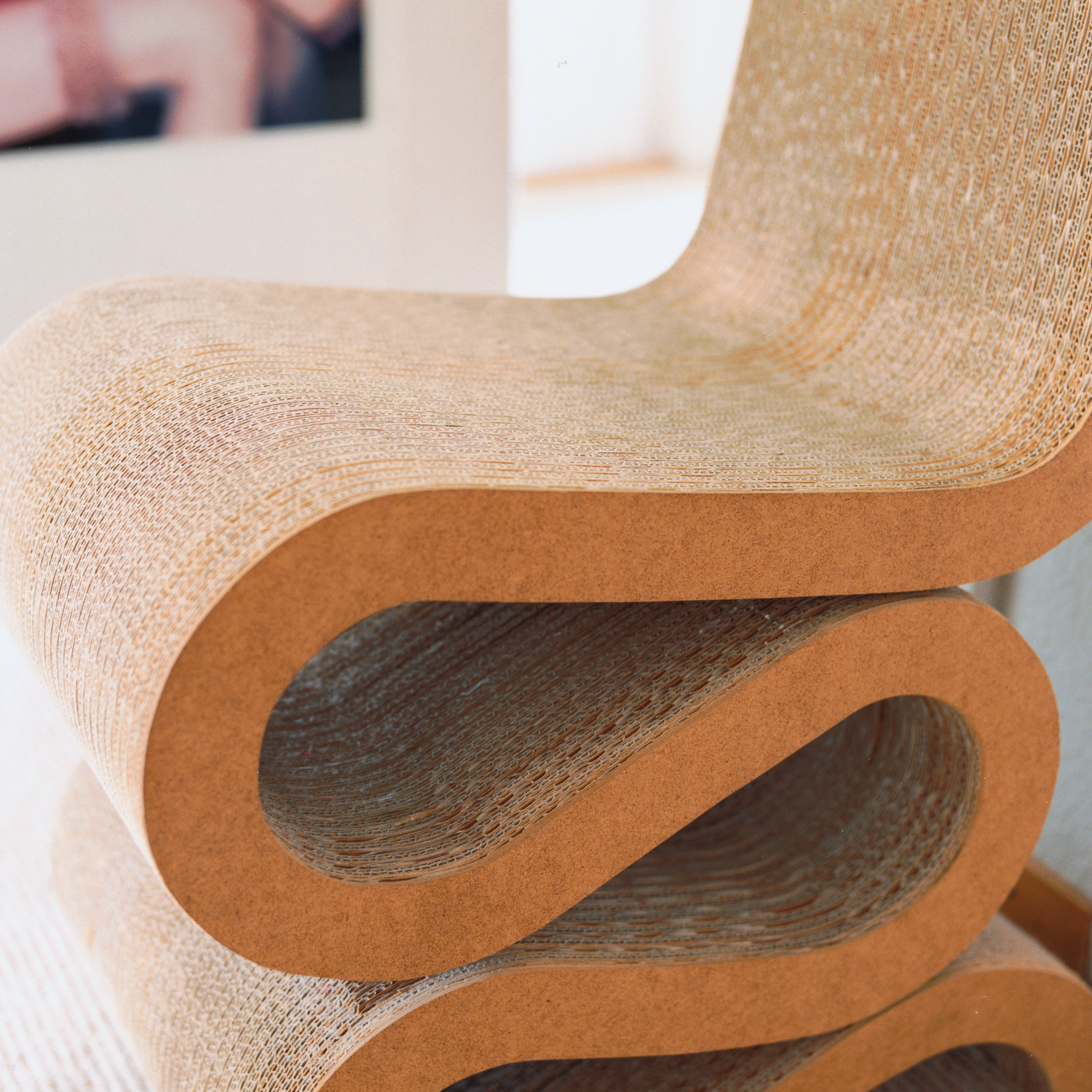 Wiggle Side Chair Detail