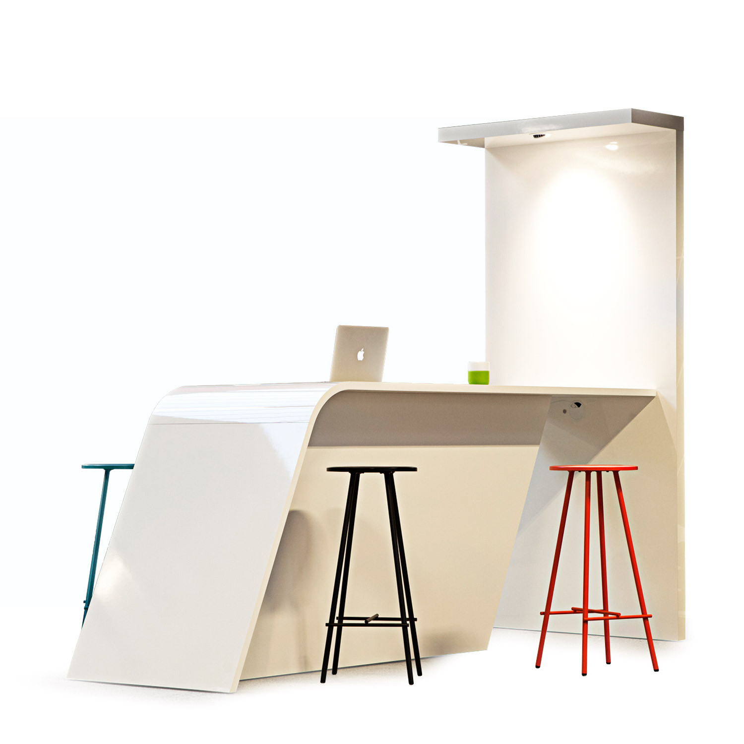 Wing High Table with whiteboard surface