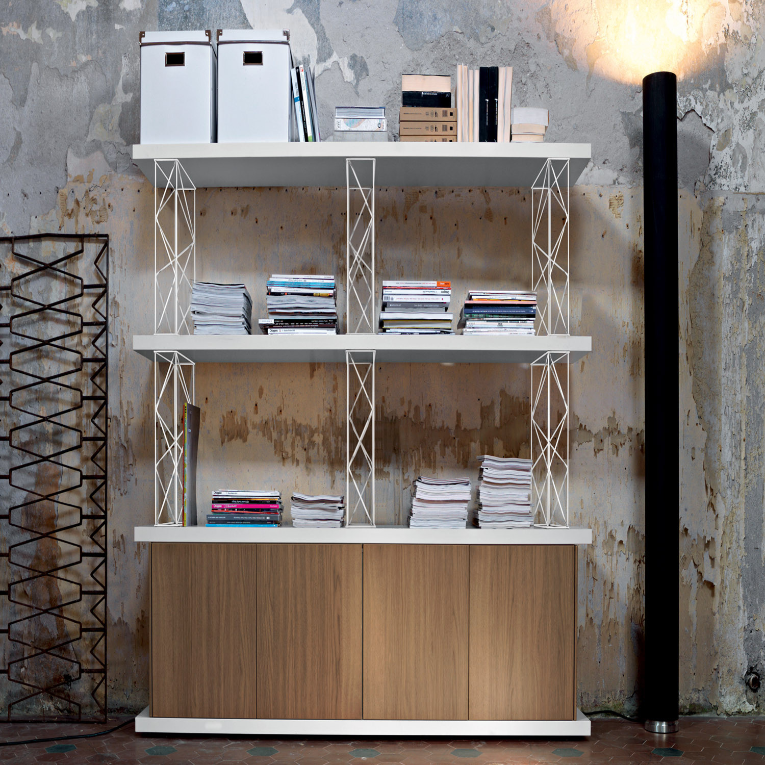 Sinetica Wire Bookcase and Shelving