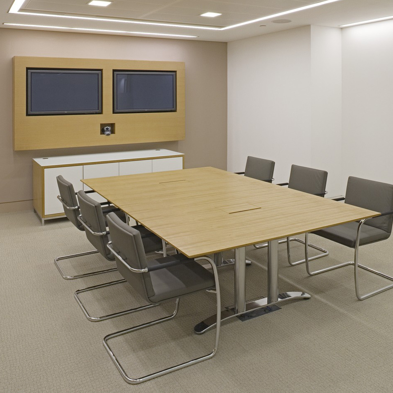 Crome Credenza in a meeting room