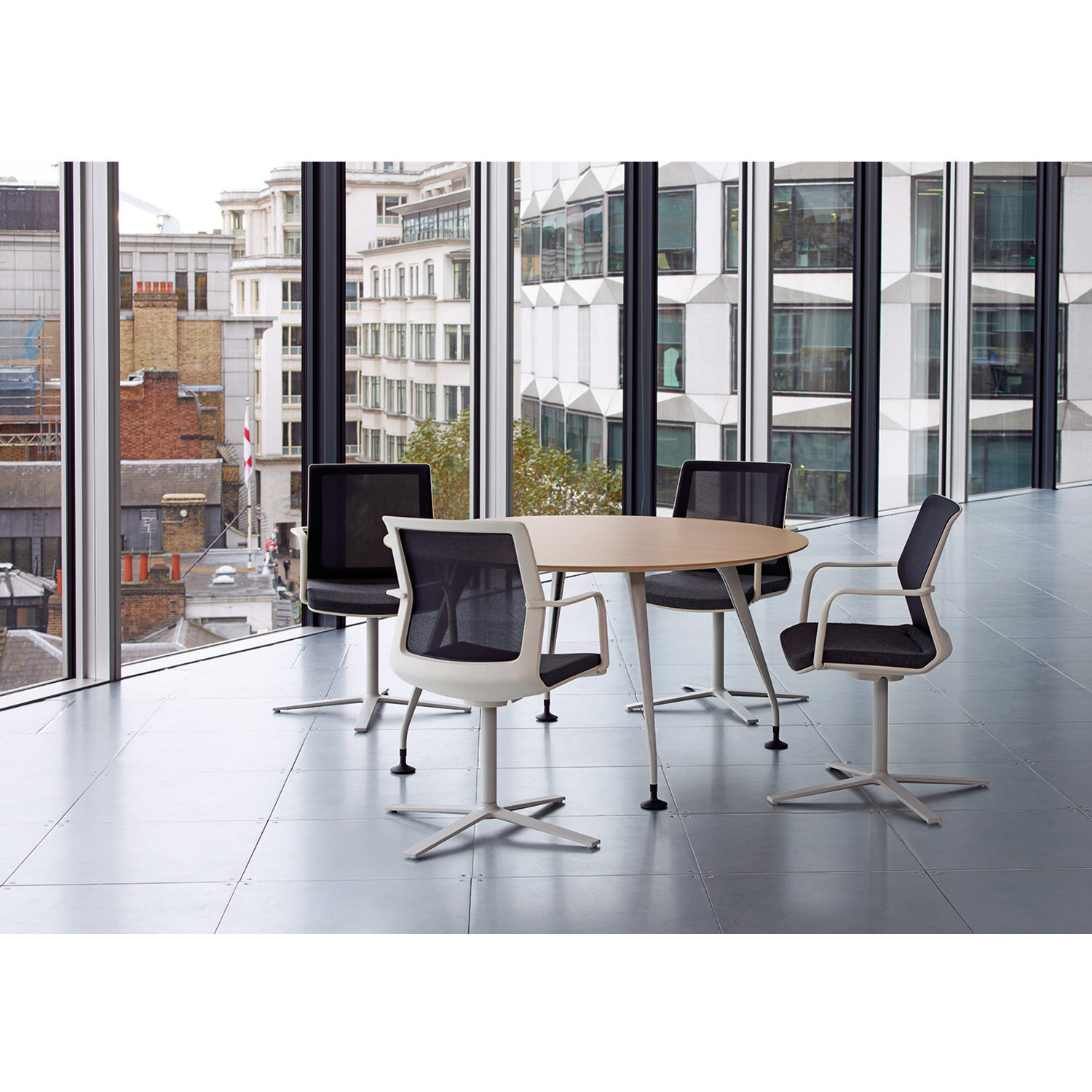 Orangebox Workday Flat 4-Star Base Chairs