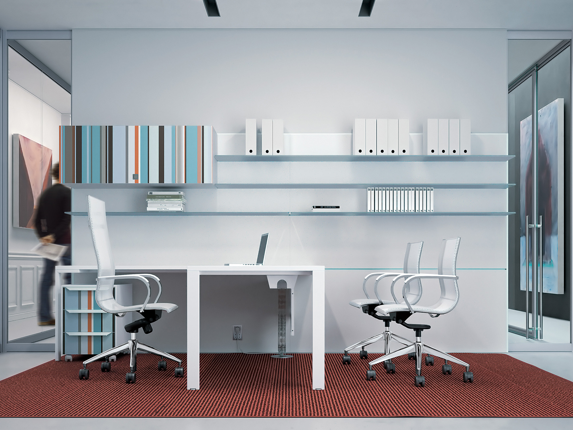 Workwall Partition with Shelves