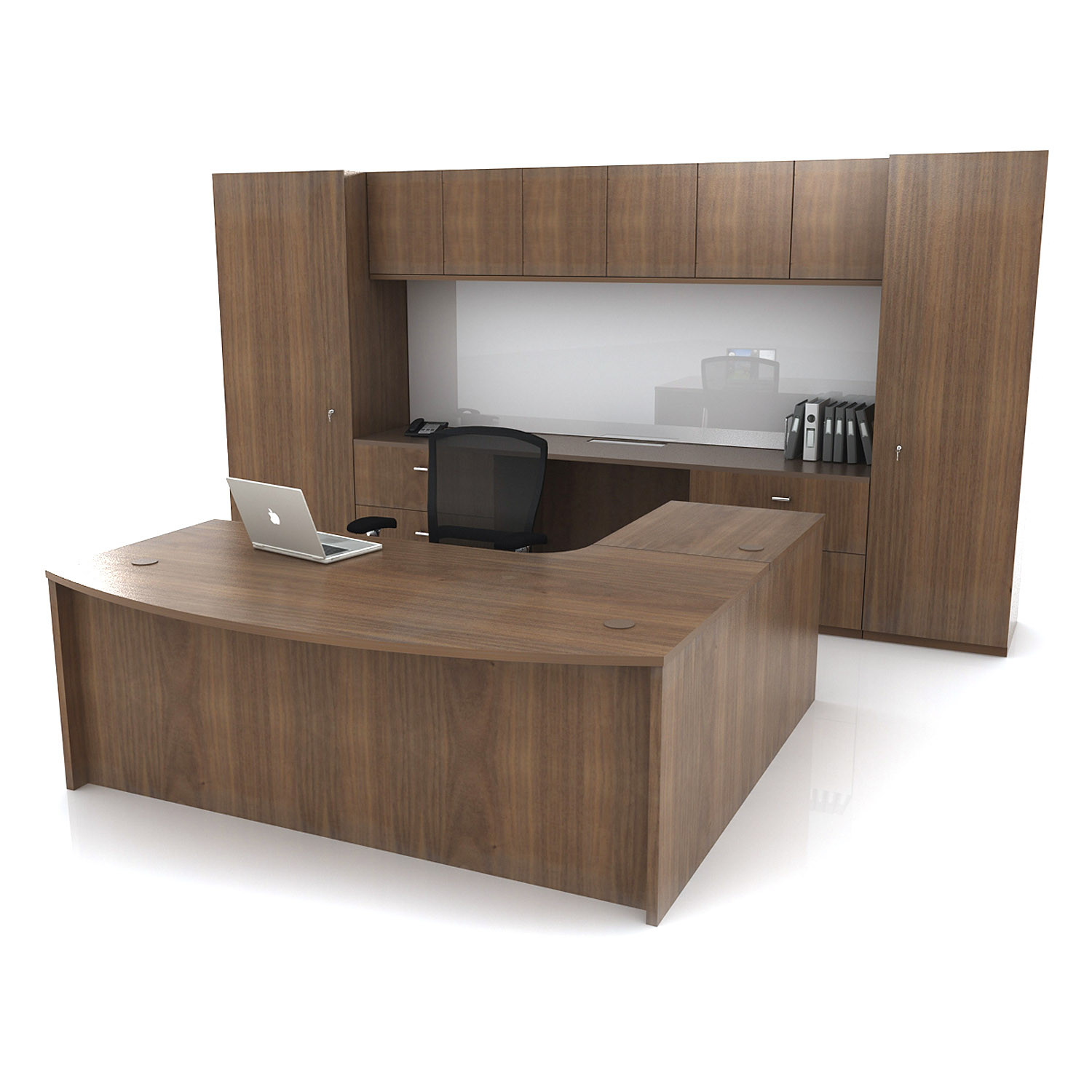 WJ White Bespoke Workwall Desk and Storage