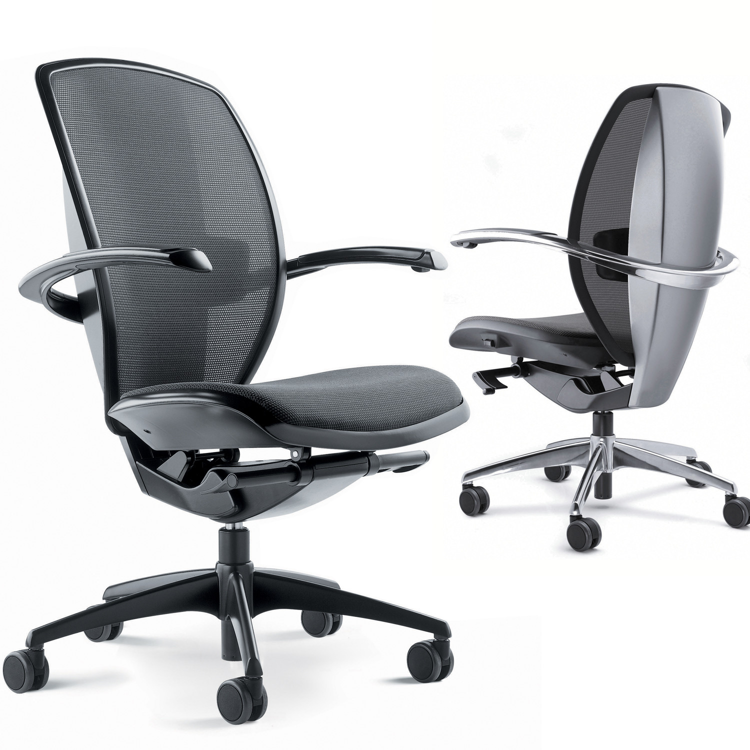 Xten Swivel Task Chairs with Height Adjustable Arms