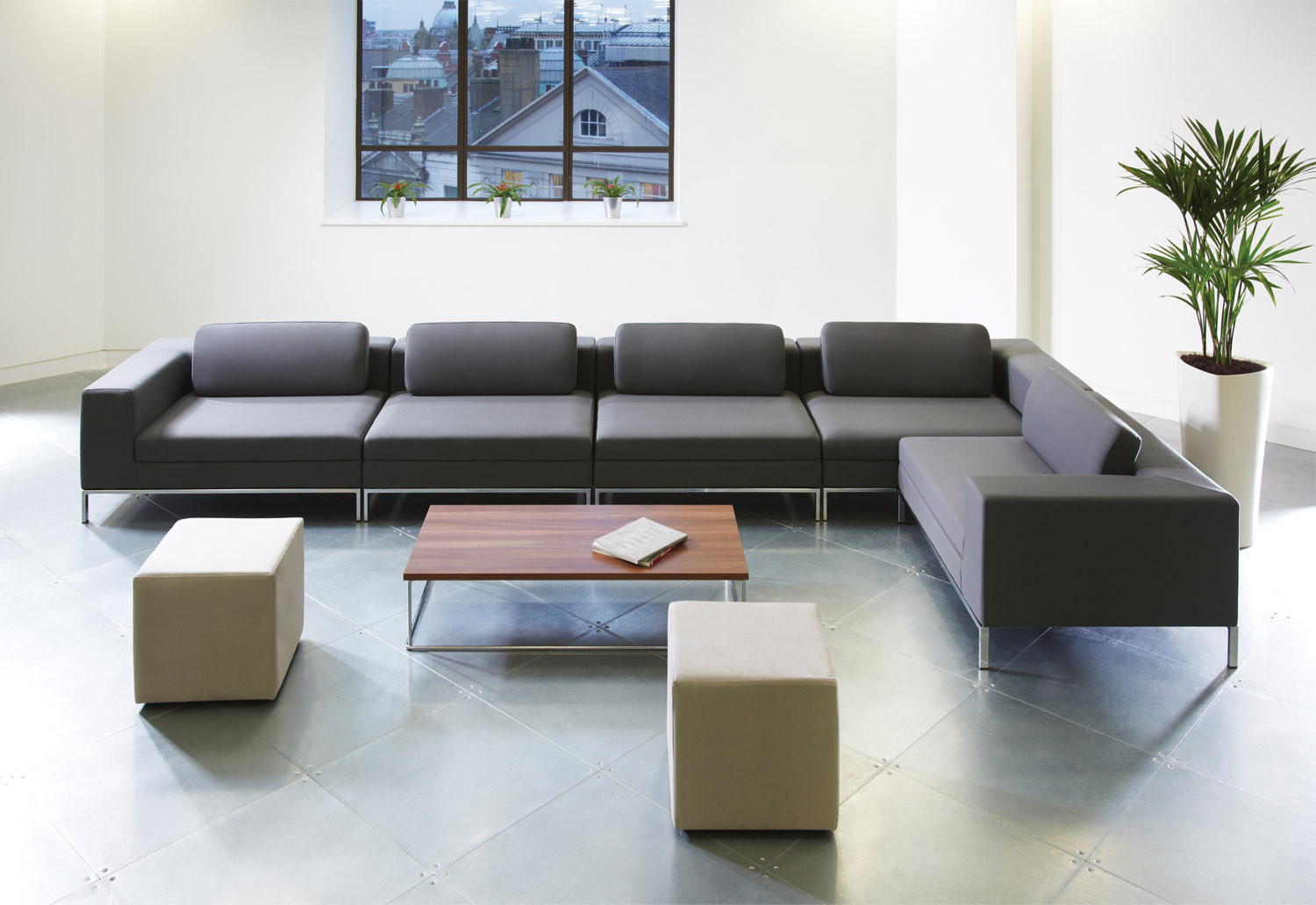 Zeus Reception Soft Seating by Connection
