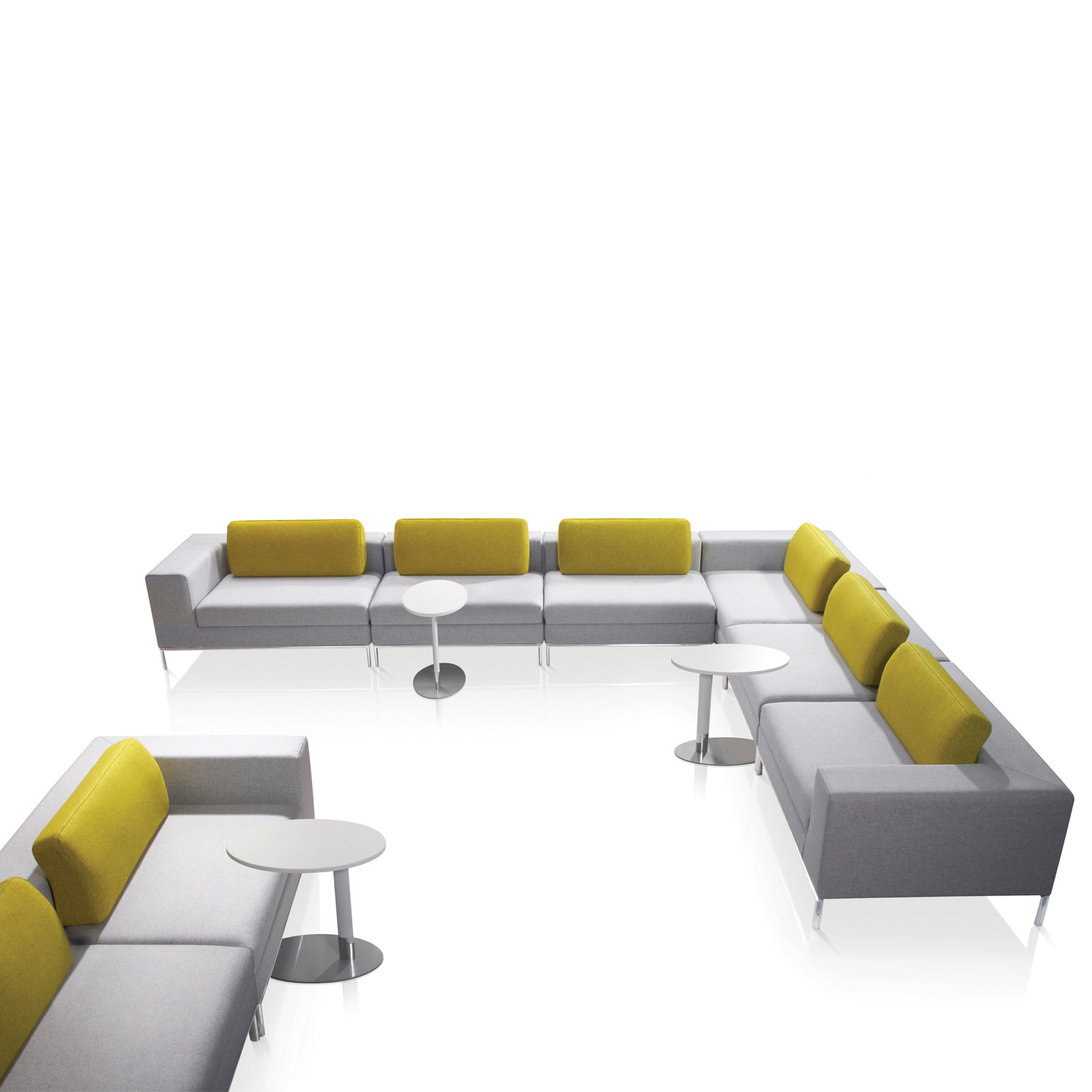 Zeus Tables with Zeus Seating by Connection