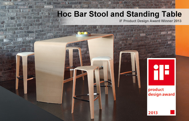 Hoc Bar Stool and Standing Table