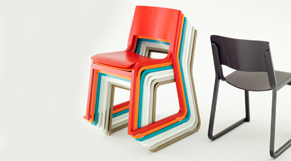Theo stackable chair by Chorus