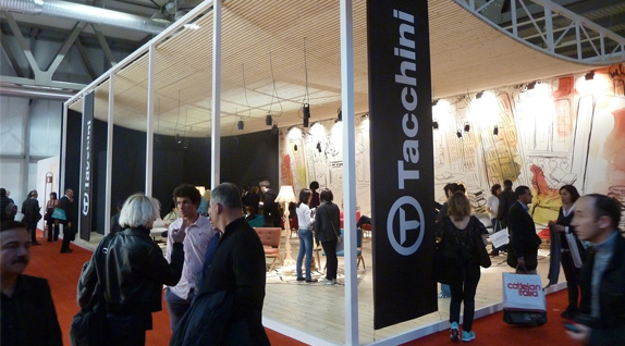 Tacchini's design fair stand